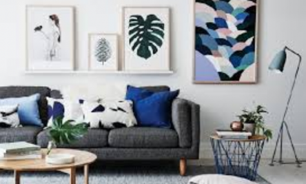 Modern nappali fekete-fehérben