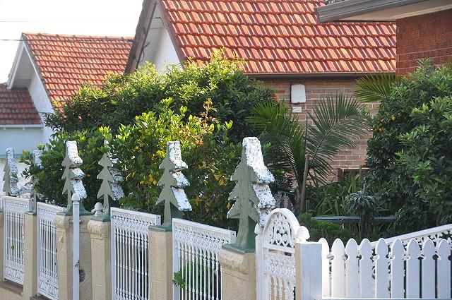 A kerítésnél a szinteltolás is kivitelezhető