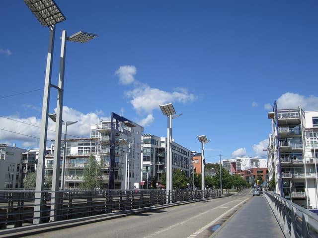 Napelemes közvilágítás a környezet védelméért