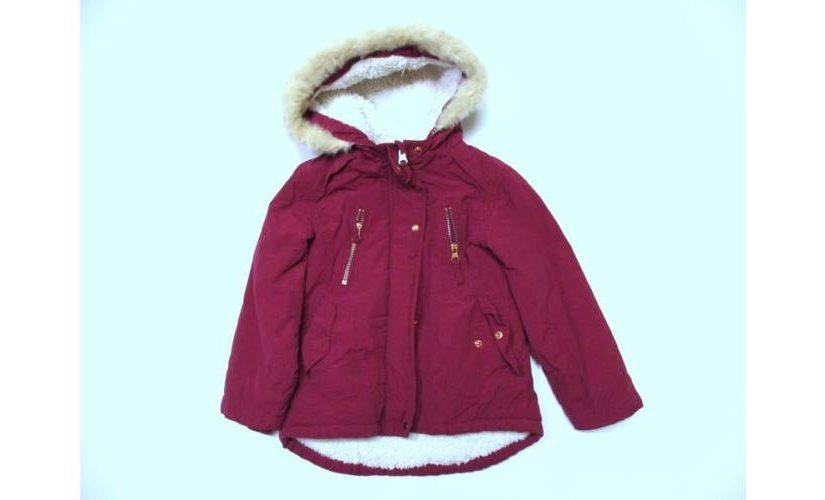 A kislány kabát rövid ideig használható